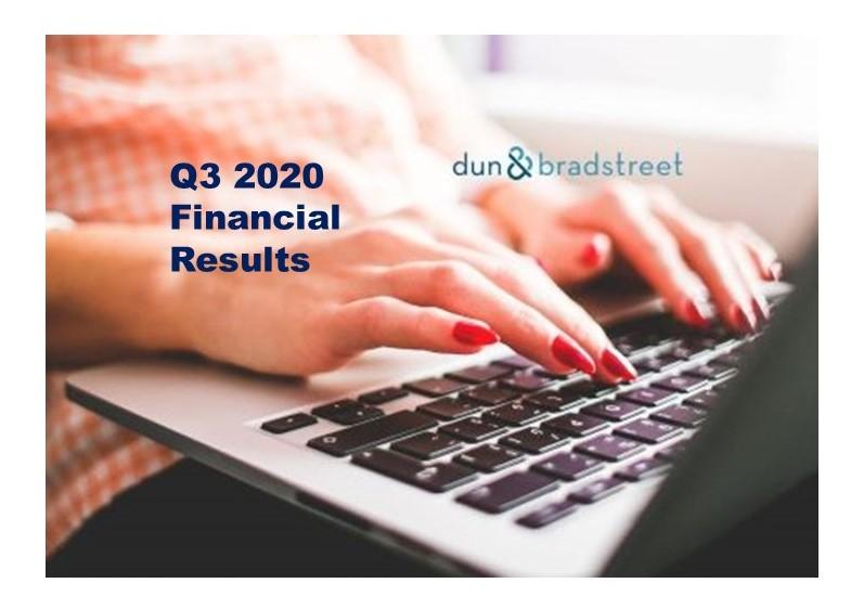 Dun & Bradstreet Q3 2020 Up 7.8% (constant currency basis)