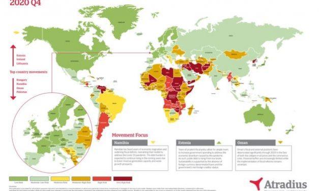 Atradius Q4 2020 Country Risk Map