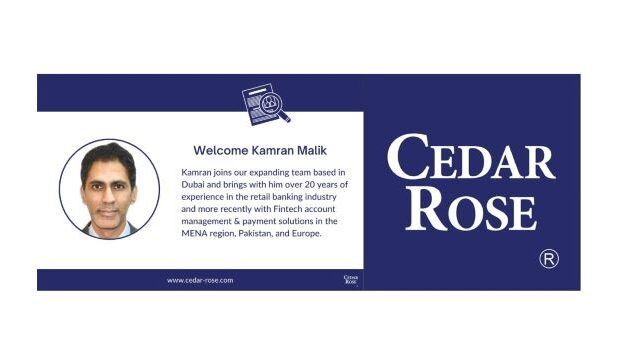 Cedar Rose Announces the Appointment of Kamran Malik as Head of Compliance Solutions Sales