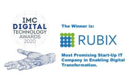Rubix Data Sciences Private Limited Awarded IMC Digital Technology Award