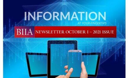 BIIA Newsletter October I – 2021 Issue